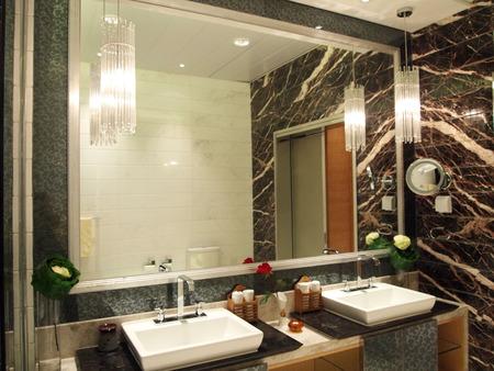 bathroom interior: interior of a modern bathroom Editorial