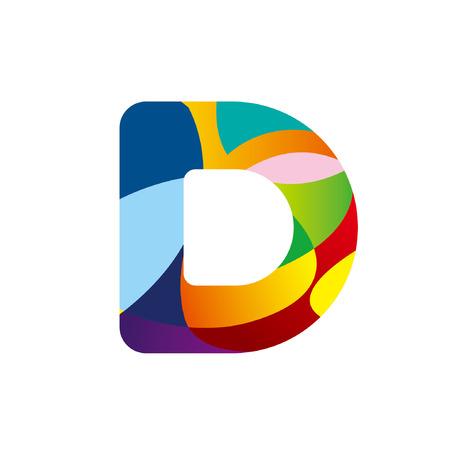 d: Illustration of letter D