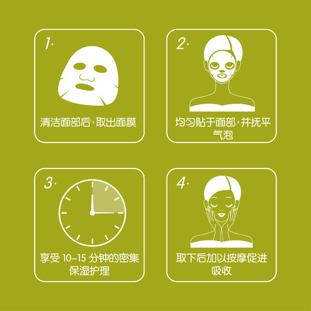 Mask Packaging Illustration
