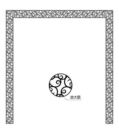 thumbnail: European-style decorative pattern with zoom in thumbnail Illustration