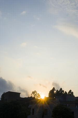 irradiation: Sunset Stock Photo