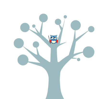 branch to grow up: Owl on the tree