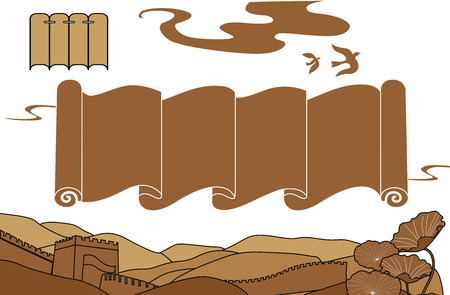 great: great wall Illustration