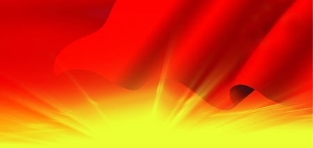 irradiation: Red background