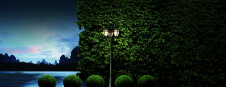 Park street lamp Фото со стока