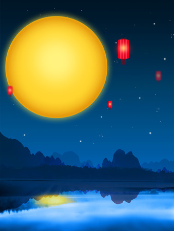 Mid Autumn Festival background Stock Photo - 67216235