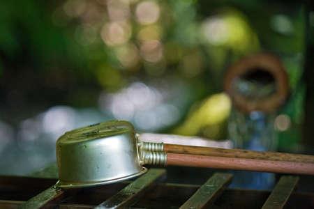 bamboo fountain: Bamboo Fountain Stock Photo