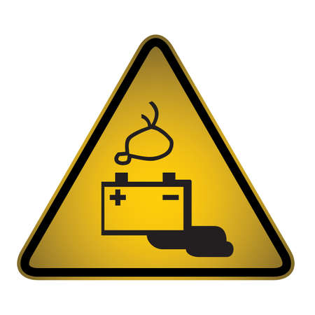 adjusting activity: Hazard sign- vector
