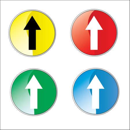 one lane roadsign: Arrow Sign