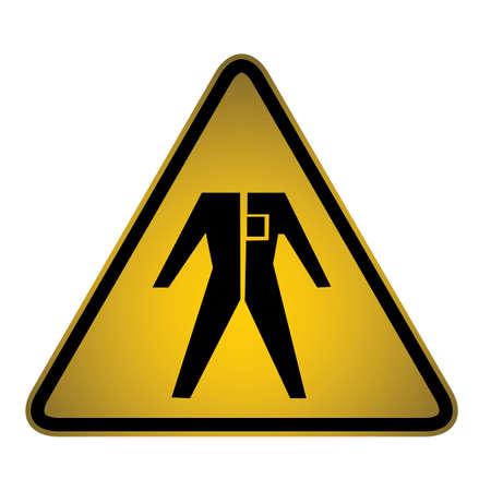 slippery floor: Hazard sign