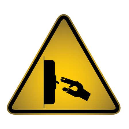slippery warning symbol: Hazard sign