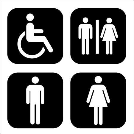 toilet sign set Векторная Иллюстрация