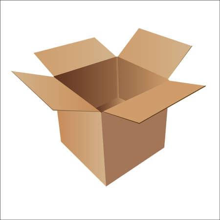 carton box graphic Vettoriali