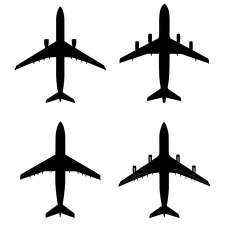silhouette of a airplane