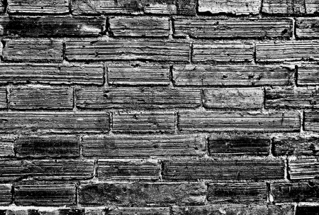 Black And White Brick Wall Chiang Mai Old City Enhanced