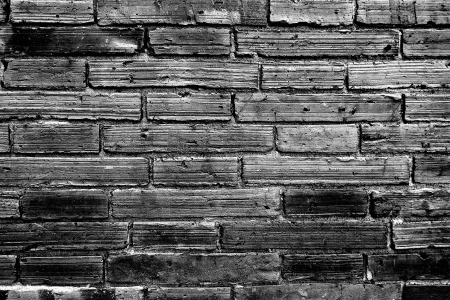 Brick Wall In Monochrome Black and White photo
