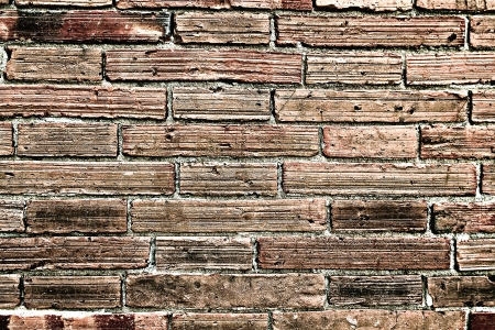 Faded Brick Wall Textured Background Chiang Mai Old City photo