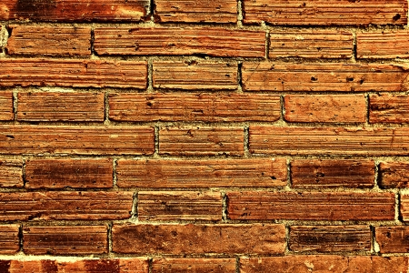 Red Brick Wall Chiang Mai Old City Enhanced