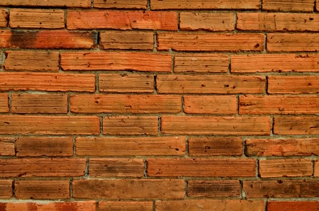 Red Brick Wall Textured Background photo
