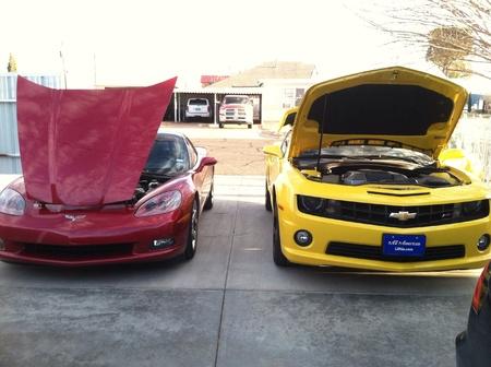corvette: Corvette  Camaro side by side