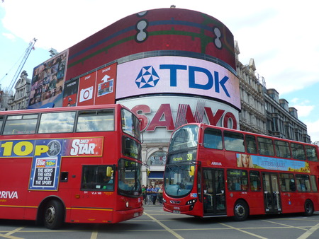piccadilly: Buses colliding on Piccadilly Circus