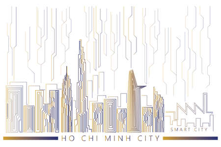 Futuristic looks for Ho Chi Minh city - smart city concept