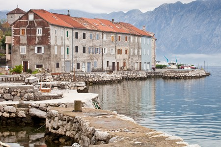 Seven traditional old stone houses in Kotor photo