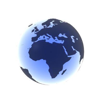 Soft Blue Africa Stock Photo