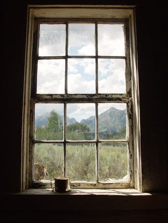 Windows with Tin Cup