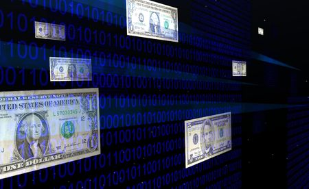 financal: Binary Bills Stock Photo