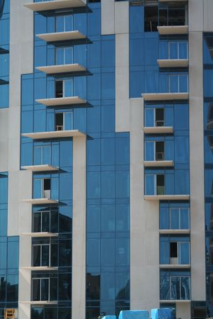executive apartment: Detail of a new building I Stock Photo