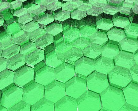translucent: Green Translucent Hexagons Stock Photo
