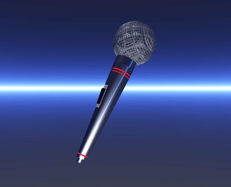 Microphone on Futuristic Background photo