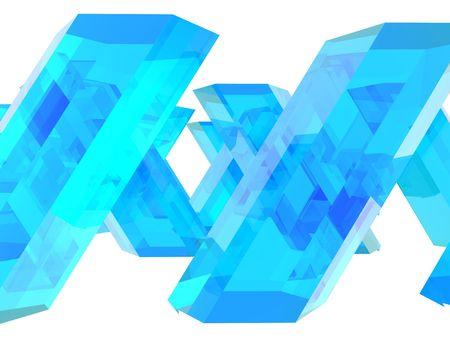Blue Zeshoekige Crystals