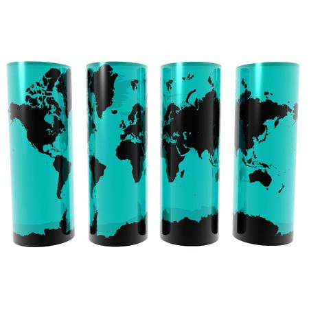 Map on Cylinders Stock Photo - 2441298