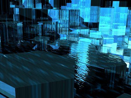 translucent: Blue Translucent Hexagons