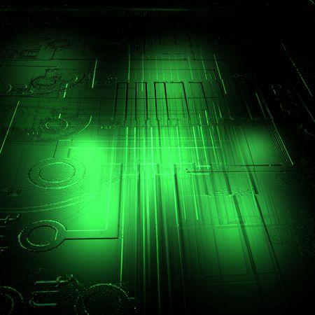 Circuit on glass Banco de Imagens