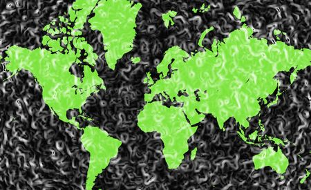 frosted: Abstract Frosted Green World Map