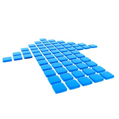 Blue Tile Arrow photo