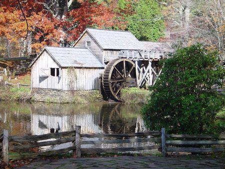 Fall at Mabry Mill