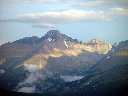 longs peak: Looking towards Longs Peak high in the Rocky Mountains. Stock Photo