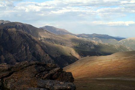 alpine tundra: The colors of autumn color the alpine tundra