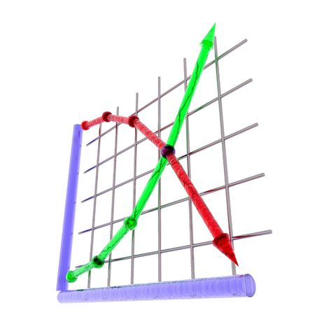on demand: An illustration of supply and demand curves. Stock Photo