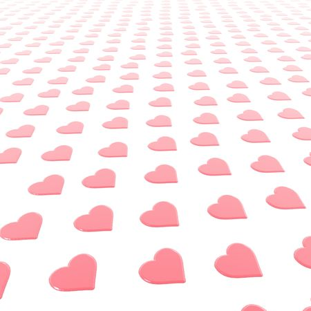 A background of a St. Valentines hearts.