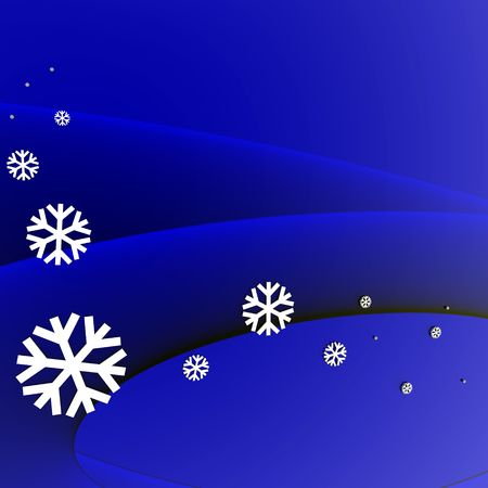 An illustration of snow with room for text. illustration