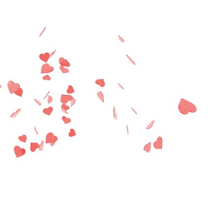An illustration of a St. Valentines confetti failing from the sky.