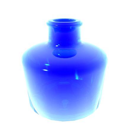 Blue vase illustration isolated on white background Stock fotó