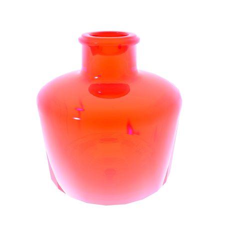 Red vase illustration isolated on white background