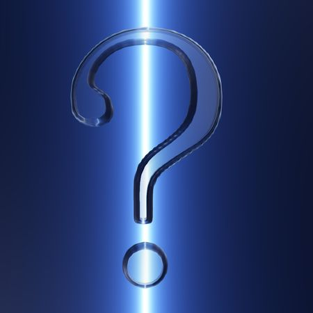 An illustration of a question mark with an icy appearance. Stock fotó