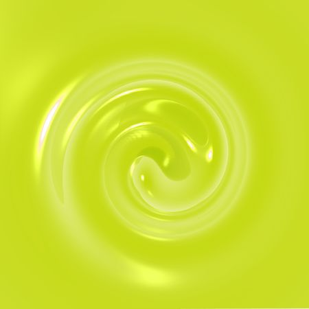 An illustration of yellow fluid swirling.